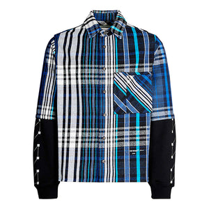 Jersey Sleeve Shirt - Blue Black | Off-White
