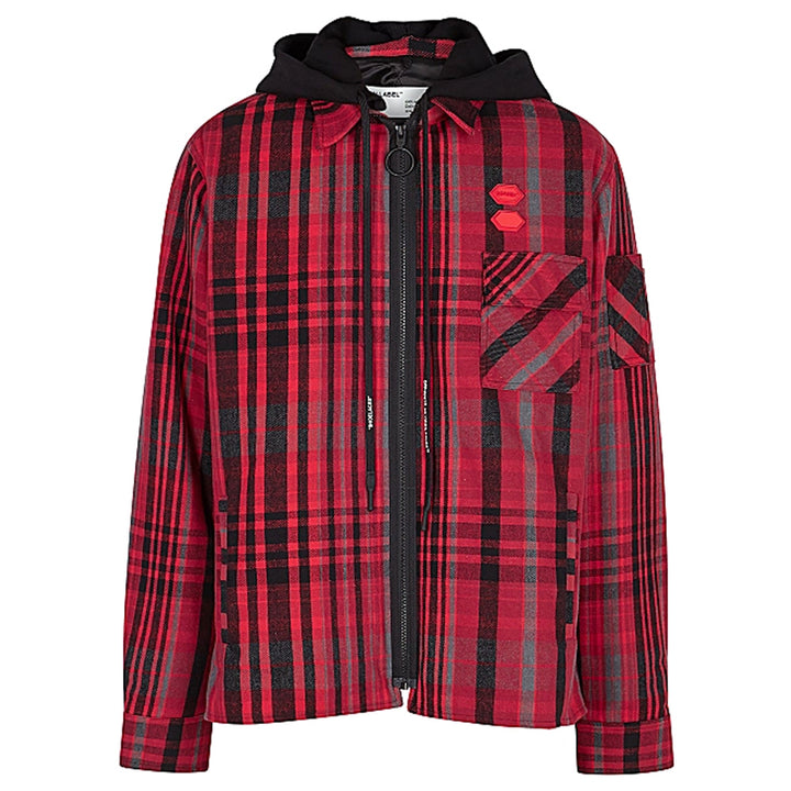 Padded Flannel Shirt - Red Black | Off-White