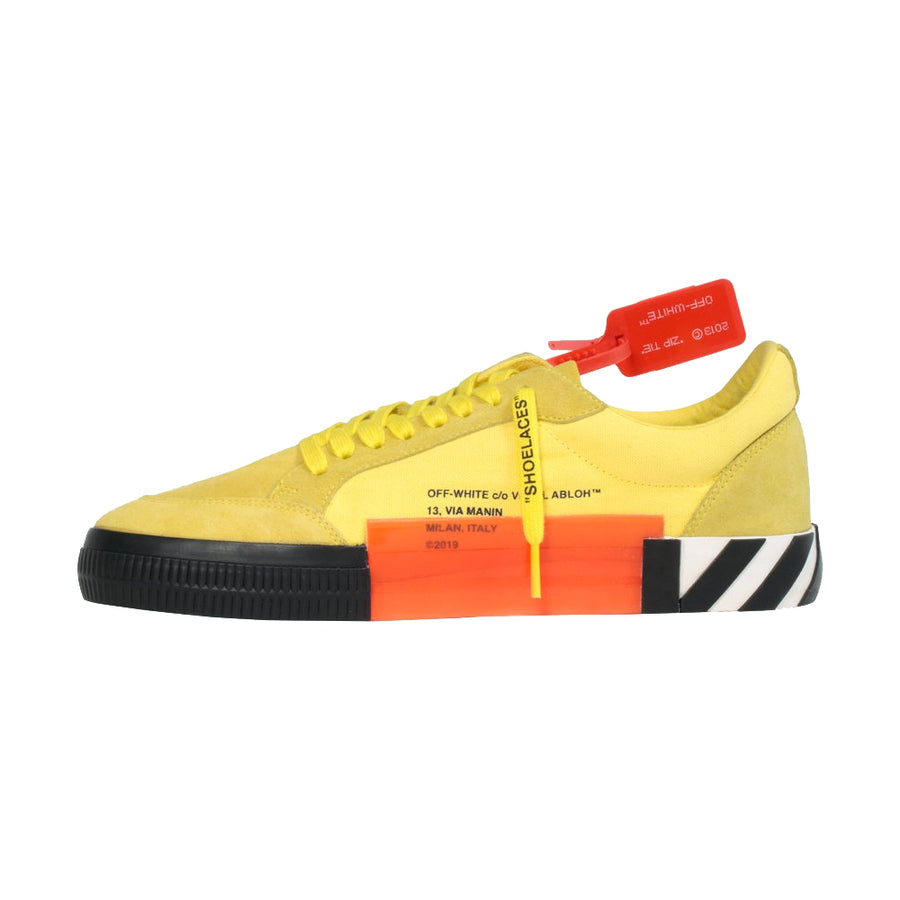Off White Low Vulcanized Sneaker Yellow Black