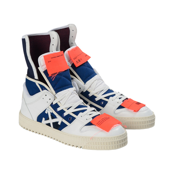 "Off-White High ""OFF-COURT"" 3.0 Sneakers - White/Navy"