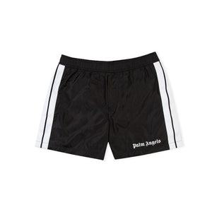 Palm Angels Track Board Shorts Black White