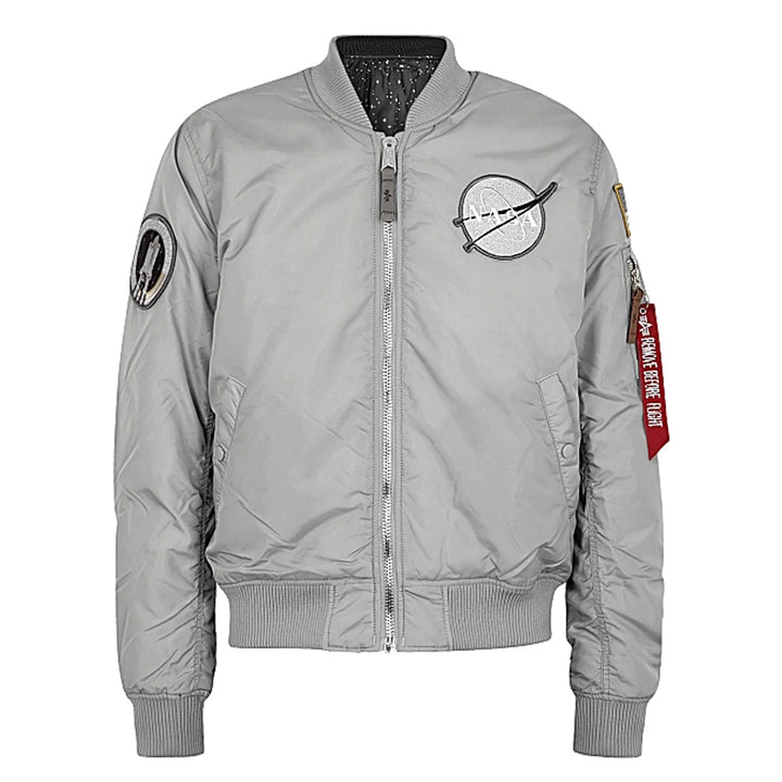 BMA-1 VF Nasa 31 Flight Jacket - Silver | Alpha Industries