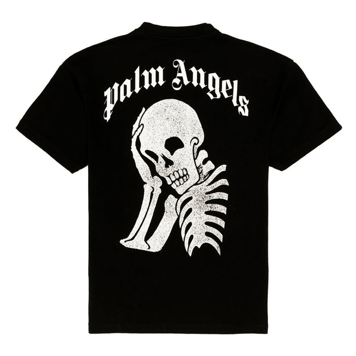 Thinking Skull Tee - Ecru Black | Palm Angels