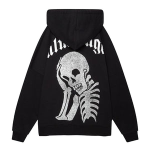 Thinking Skull Hoody - Black | Palm Angels
