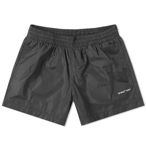 Logo Swim shorts - Black White | Off-White