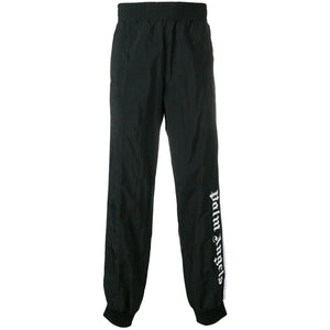 Palm Angels Over Logo Track Pants Black White