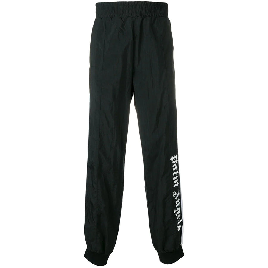Over Logo Track Pants - Black White | Palm Angels