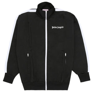 Palm Angels Over Logo Track Jacket Black White
