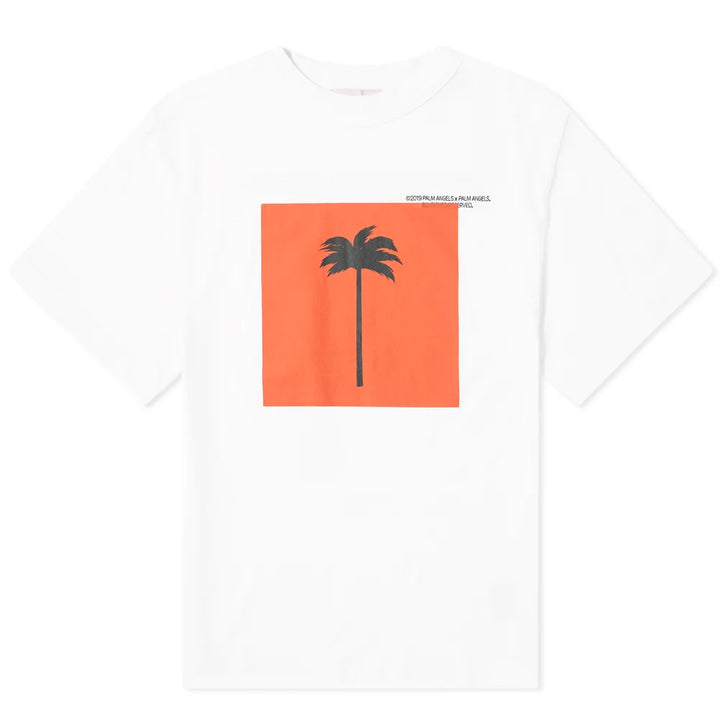 Big Palm x Palm Tee - White | Palm Angels