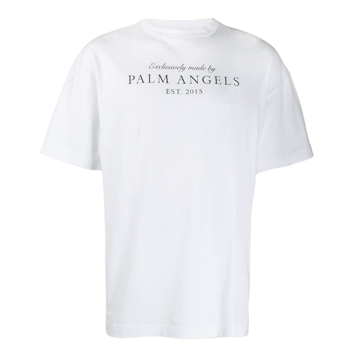 Vintage Logo S/S Tee - White Black | Palm Angels
