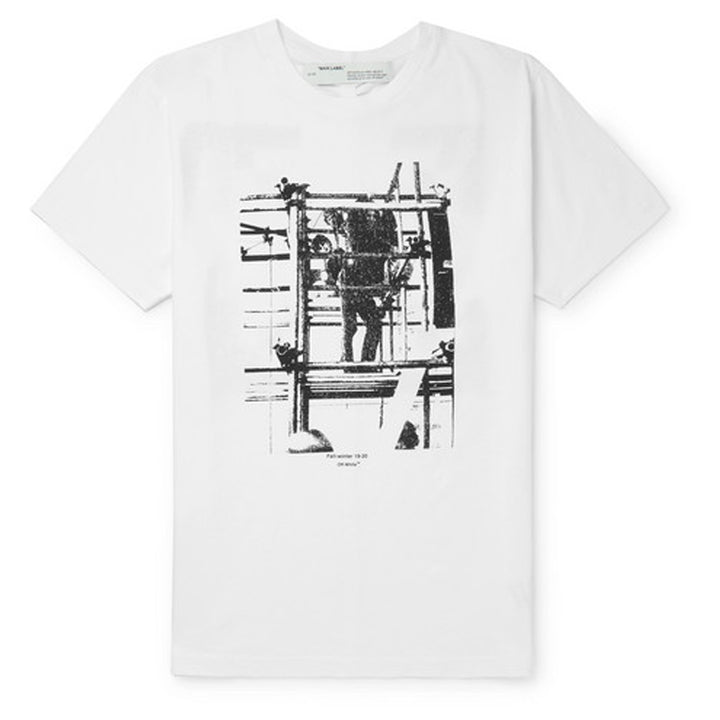 Scaffolding S/S Slim Tee - Black White | Off-White