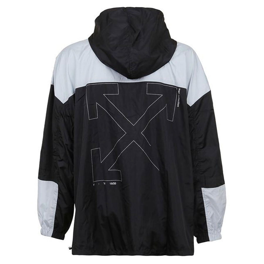 Unfinished Windbreaker - Black Silver | Off-White