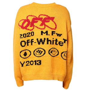 Industrial Y013 Knit Crewneck - Yellow Black | Off-White