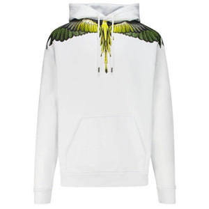 Yellow Wings Hoodie - White | Marcelo Burlon