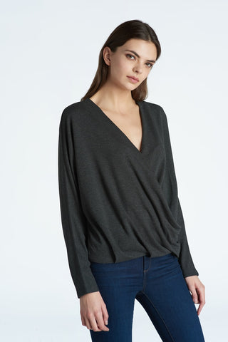 Top, Draped Front w/ Dolman Sleeves