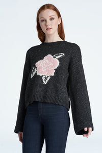 Pullover w/ Rose Jacquard