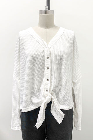 Relaxed Knot Front Cardigan