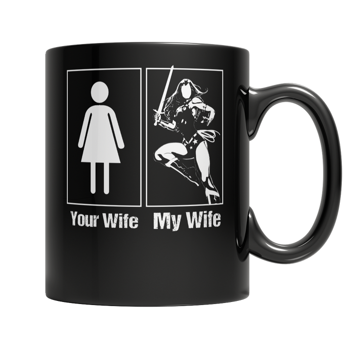 My wife your wife woman mug superhero