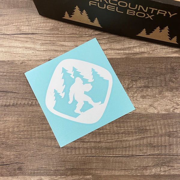 Backcountry Fuel Peel-Away Sticker