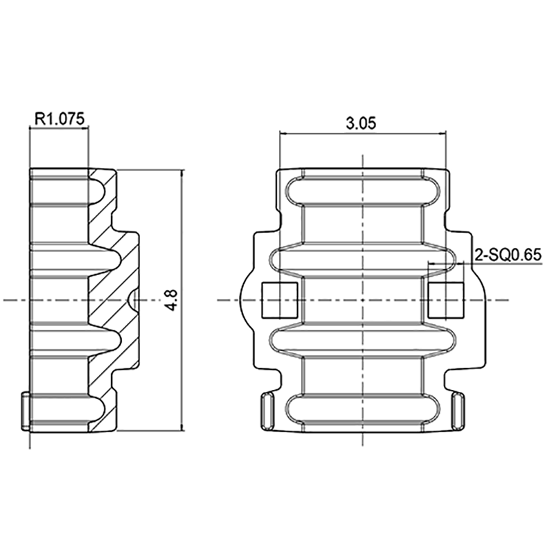 "DH-CFG-2G / 1"" SQ. Hole Bearing Half with Zerk"