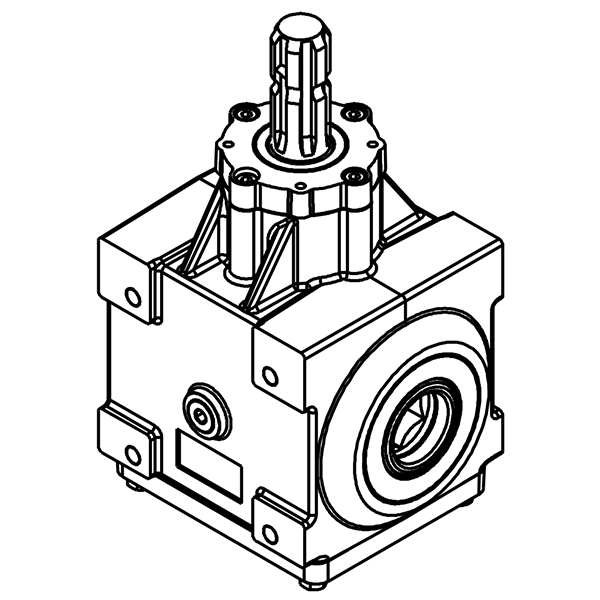 CENTRAL DRIVING GEARBOX FOR TILLER