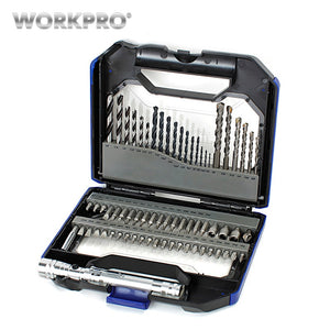 WORKPRO 68PC HSS Drill Bits
