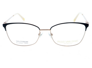 Designer Womens Glasses Black and Rose Gold by Ruud Van Dyke