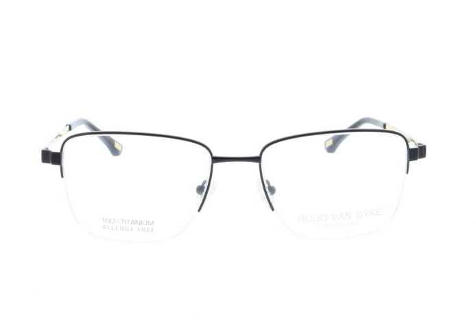 Titanium Mens Eyeglasses in Matte Black by Ruud Van Dyke