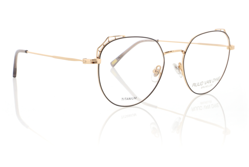 Rose Gold Designer Womens Glasses by Ruud Van Dyke