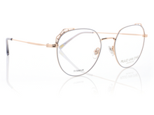 Load image into Gallery viewer, Rose Gold Glasses for Ladies with Pastel Blue Details by Ruud Van Dyke