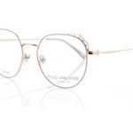 Rose Gold Glasses for Ladies with Pastel Blue Details by Ruud Van Dyke
