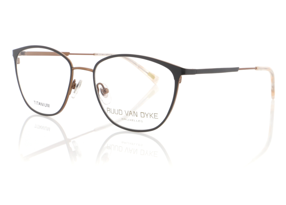 Titanium Womens Glasses Frames in Matte Grey by Designer Ruud Van Dyke