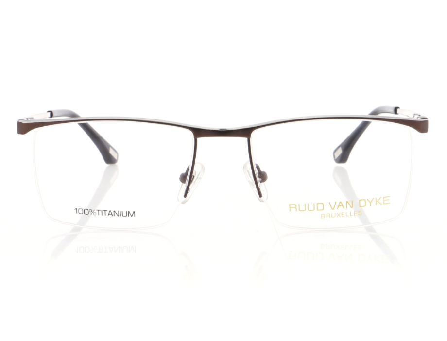 Professional Titanium Mens Glasses in Dark Brown
