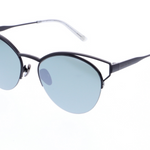 Daniel Hechter Designer Womens Sunglasses with Black Round Frame and Mirrored Lenses DHS142-5
