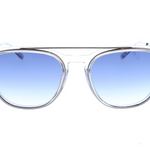 Daniel Hechter Clear Designer Sunglasses with Preppy Wire Frame and Brow Bar DHS154-5
