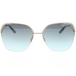 Daniel Hechter Light Gold Womens Oversize Sunglasses with Gradient Mint Green Lenses for Ladies DHS194-6