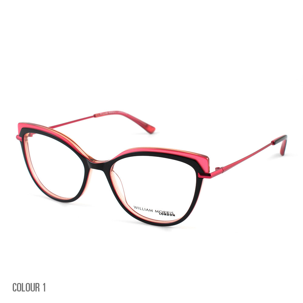 WILLIAM MORRIS LADIES GLASSES IN PINK AND BLACK - WOMENS GLASSES FRAMES - LN50092