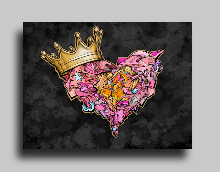 King of Hearts - Canvas
