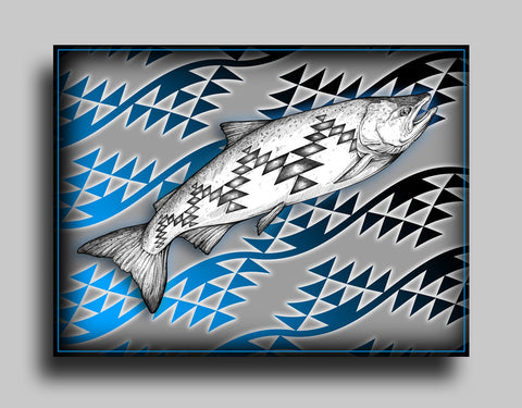 Salmon in the River - Canvas