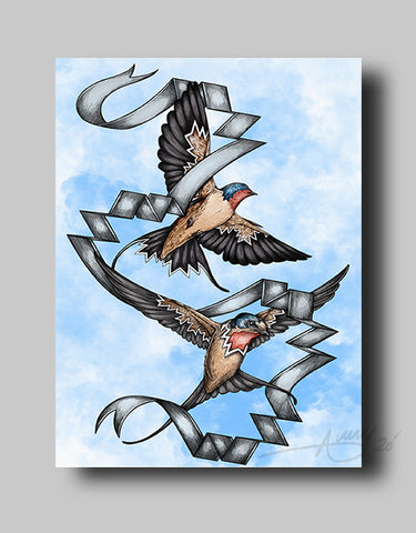 Swallows - Canvas