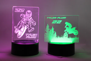 LED Lamp Base with one 3D Illusion Acrylic Light Panel