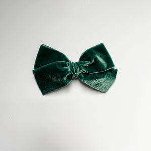 Evergreen Velvet Bow
