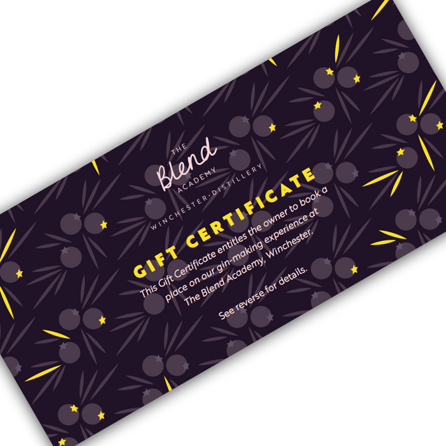 Gin Experience Gift Certificate