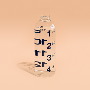 Hourglass | Smart Water Bottle - back