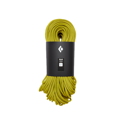 Black Diamond Dynamic climbing rope gold dry-treated climb nylon 9.4 60m 70m
