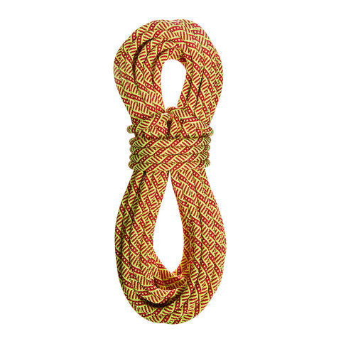 sterling dynamic climbing ropes evolution helix 9.5 60m red and yellow pattern