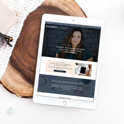 """Audrey James"" Showit Template - jessica gingrich"