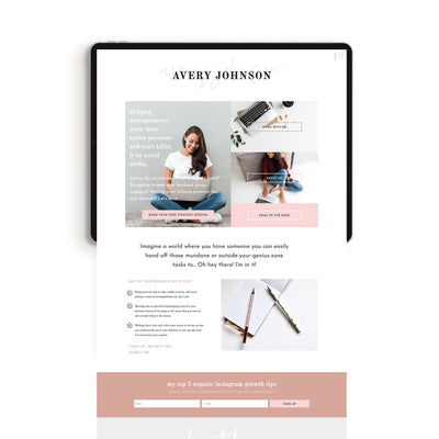 """Avery Johnson"" Showit Template - jessica gingrich"