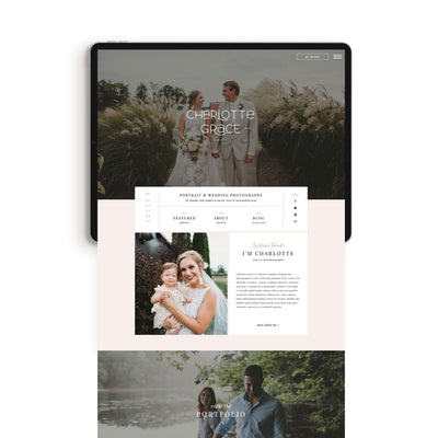 """Charlotte Grace"" Showit Template - jessica gingrich"
