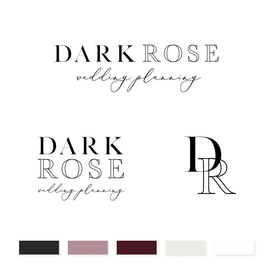 Dark Rose Brand Kit - jessica gingrich